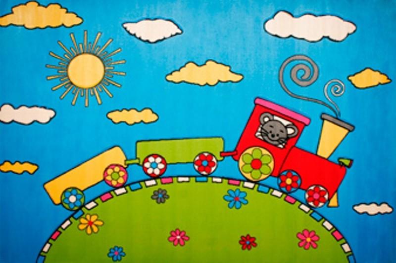 Dětský koberec Baby 1021A mašinka
