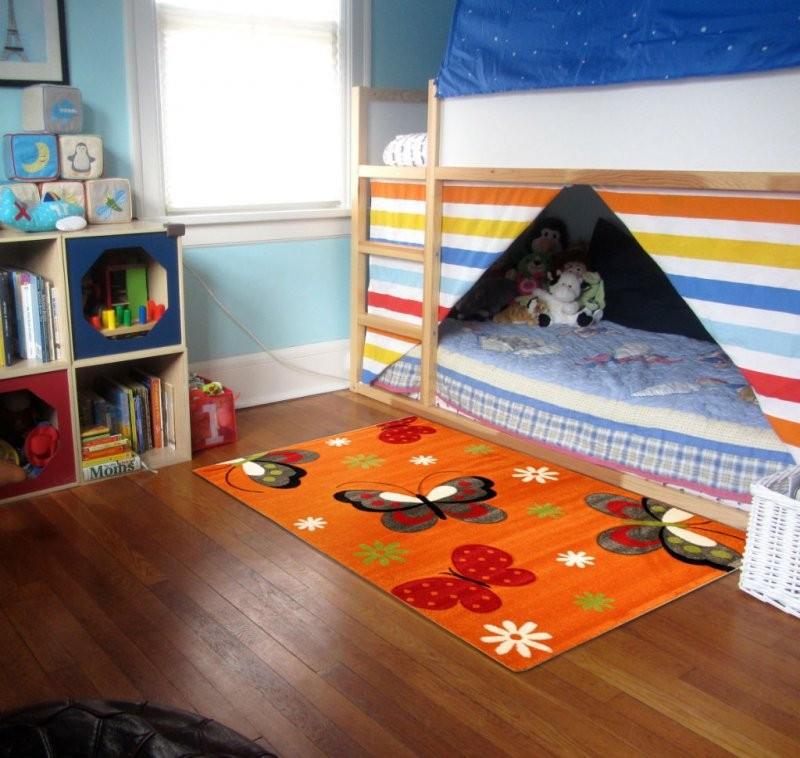 Dětský kusový koberec Diamond motýlci