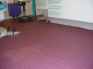 PVC podlaha v ordinaci