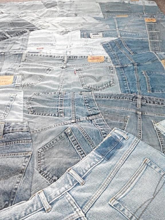 Bavlněný koberec Indie Jeans